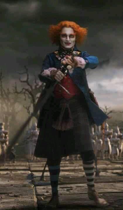 Johnny Depp as Mad Hatter Alice in Wonderland