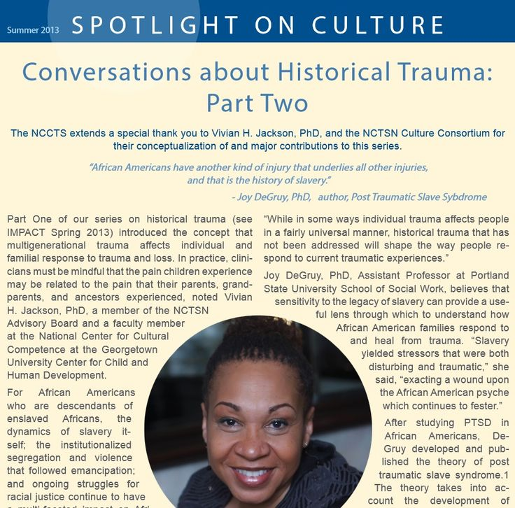 Conversations about Historical Trauma -Part Two