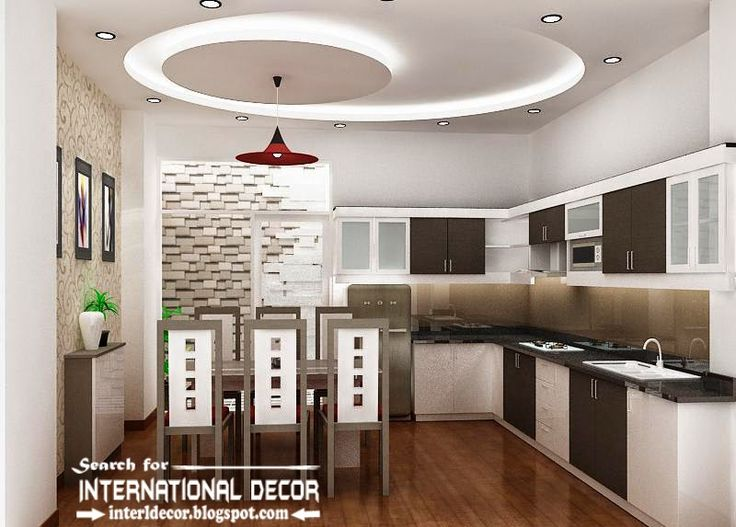 Ordinaire False Ceiling Pop Design For Modern Kitchen, Kitchen Ceiling With Lighting