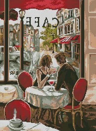 Paris cafeCross stitch pattern pdf by sunshinehomedecor on Etsy, $4.50