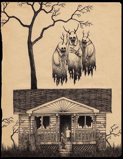 O desenhista John Kenn Mortensen cria desenhos macabros de arrepiar.