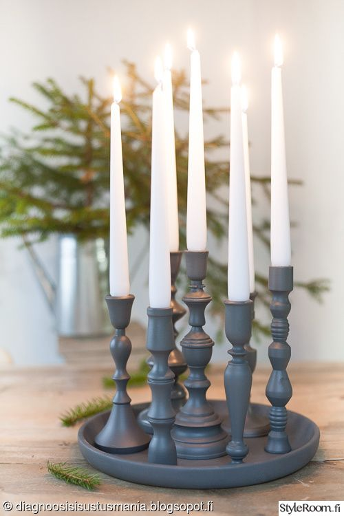 diy,kynttilänjalkatarjotin,joulu,joulukalenteri,kynttelikkö