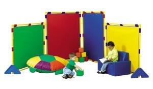 Big Screen Rainbow Play Panel Divider Set W Feet