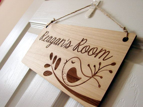 Kids Room Sign Custom Kids Door Sign by rememberwynn on Etsy, $18.50