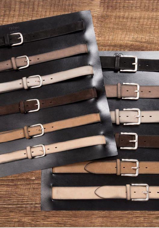 Buckles & Belts - Belt/Gürtel - NOS Collection 2016 - Torean - Nubuk-Leather - antracite - grigio - beige  - nero - moro - marrone - Design in SWITZERLAND made in ITALY https://www.facebook.com/BucklesBelts