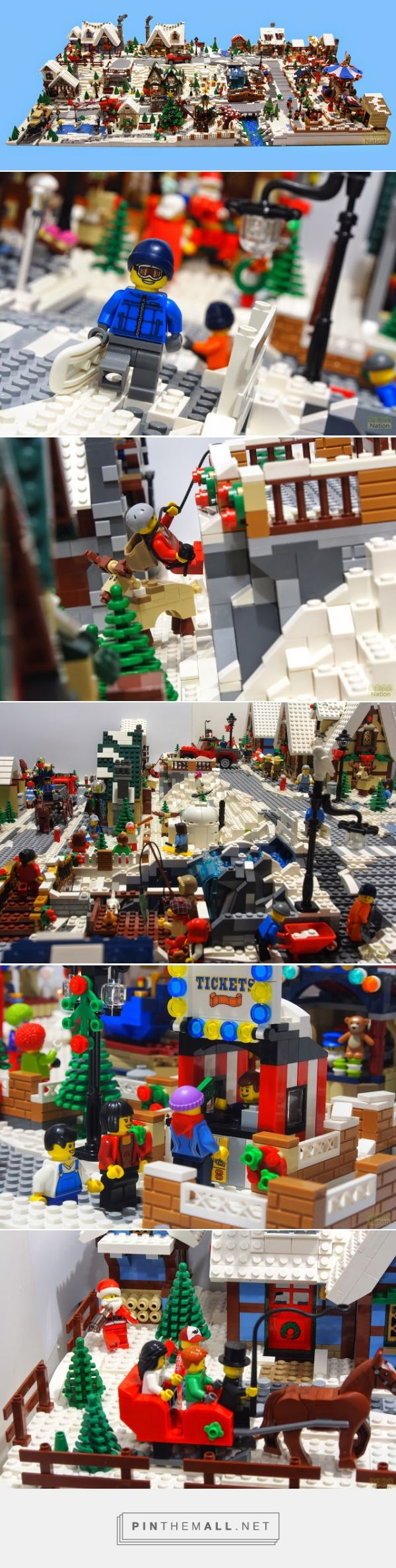 Oz Brick Nation: Our LEGO Winter Village MOC Display. - created via http://pinthemall.net