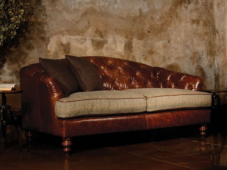 The Harris Tweed Dalmore Is Classic Styled Sofa With Deep Buttoned Backs  And Sumptuous Feather Filled Seat Cushions For Luxurious Comfort.
