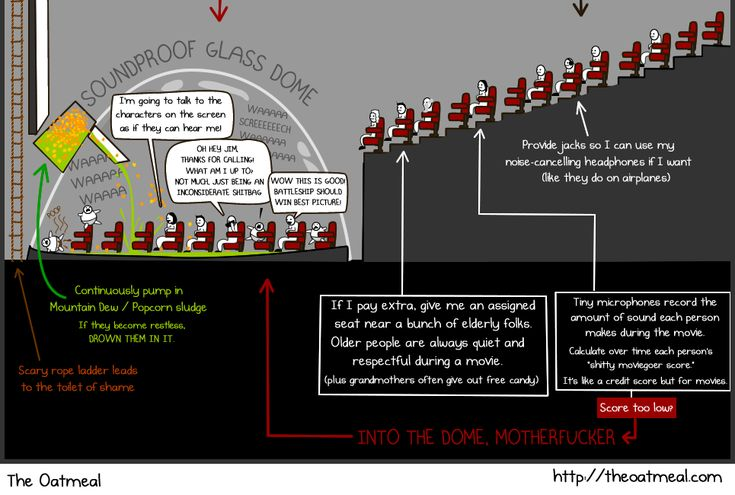 How movie theaters SHOULD be laid out - The Oatmeal
