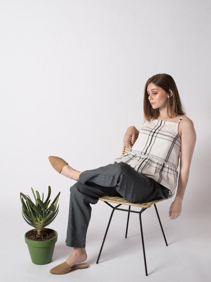 WAVEY PANTS #sibedthreads #sibedclothing #linen #madeinNewZealand #womansclothing