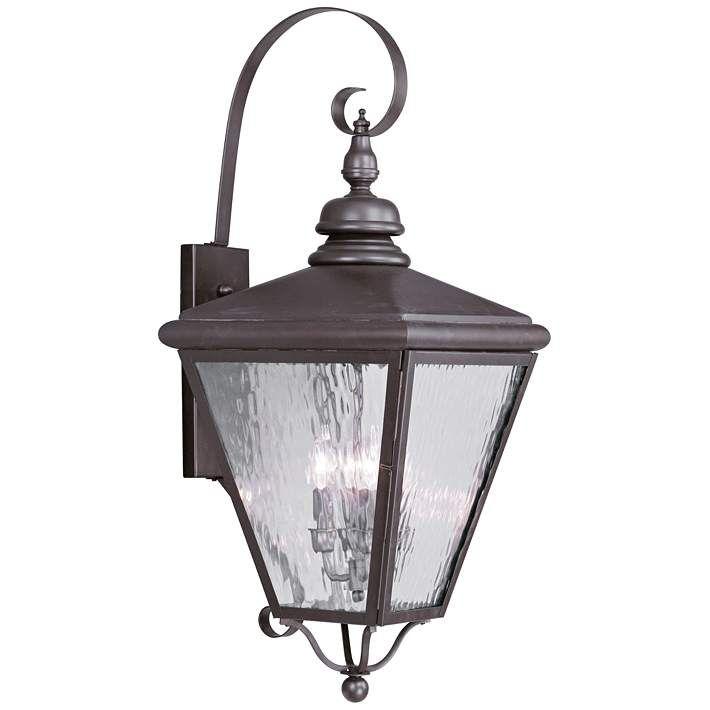 Cambridge 34 1 2 High Bronze Outdoor Wall Light 42m20 Lamps