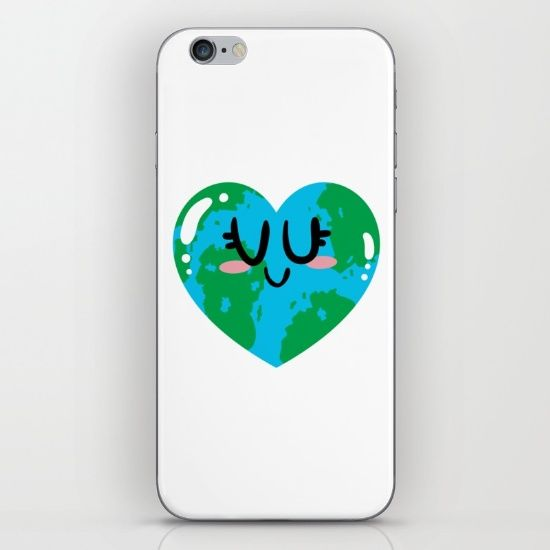 I Love Earth iPhone & iPod Skin