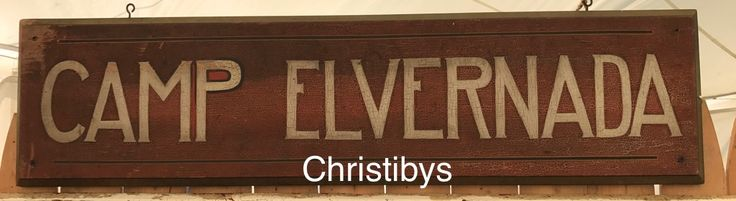 """Original camp sign, even alligatored shellac finish, beveled edge, 10""""x 42"""" ca. 1920-30s, from the Adirondack area. Available, Christibys"""