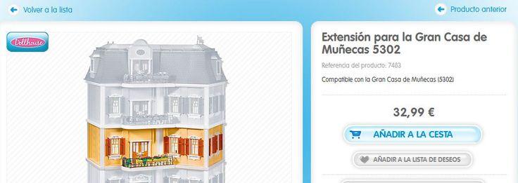 Compatible con la Gran Casa de Muñecas (5302 http://www.playmobil.es/on/demandware.store/Sites-ES-Site/es_ES/Product-Show?pid=7483&showSpareParts=false&cgid=Ds_Puppenhaus#cgid=Ds_Puppenhaus&start=4