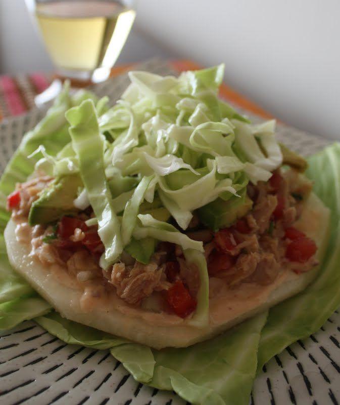 Tostadas de jícama con atún | Cocina y Comparte | Recetas de @Ana G. Arizmendi de @Leire Mayendia sin Carne y @Fácil de digerir