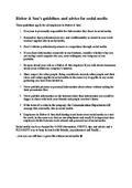 Social Media Guidelines Rieber & Søn