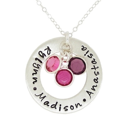Adorable for names of kids and birthstones.