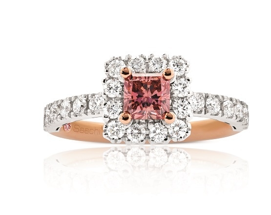 Stunning - Rose and White Gold Ladies Ring set with Pink and White Diamonds - just exquisite <3