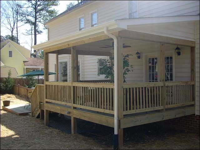 25 best ideas about covered deck designs on pinterest for Shed roof porch designs