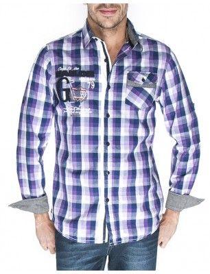 Giorgio di mare camisa cuadros | purple