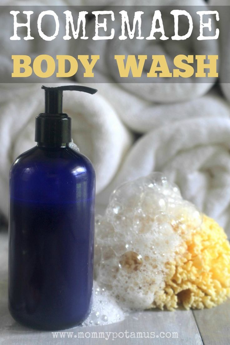 The rich, bubbly lather of this homemade body wash recipe cleanses while moisturizing. With only three ingredients, it couldn't be easier to make!