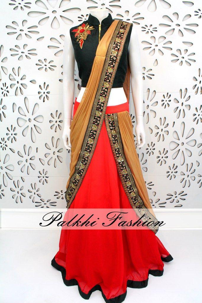 PalkhiFashion Exclusive Georgette Concept Lehenga with Elegant handwork Blouse