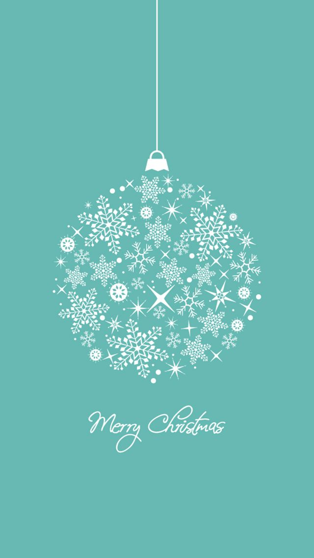 CHRISTMAS SNOWFLAKE ORNAMENT, IPHONE WALLPAPER BACKGROUND