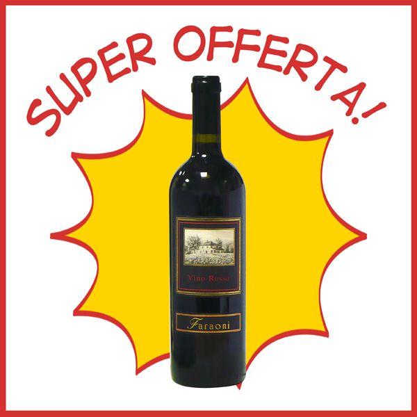 Vino rosso da tavola. Vino di buona qualità adatto a tutti i gusti. Bottiglia cl.75 € 1,49!!!