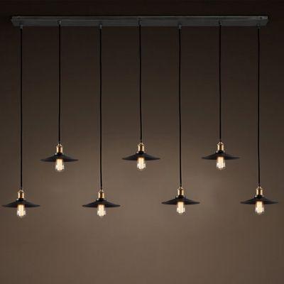 multi pendant lighting. industrial black 7 light multi pendant indoor lighting pendants d