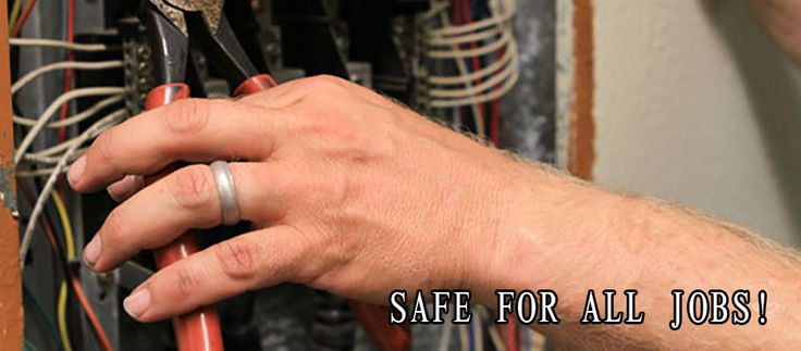 Non Metal Wedding Bands >> 24 best images about Electrician Wedding Rings on ...