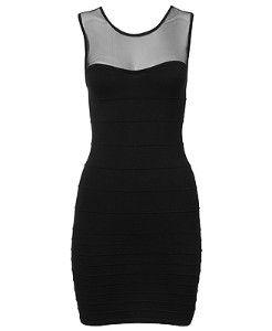 mesh top black dress | Get The Look For Less: Amber Rose Black Mesh Dress