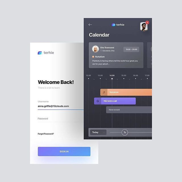 Logo inspiration: Calendar and login by Ashley Cooper Hire top quality creatives…