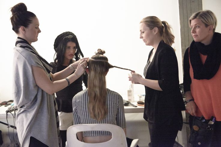 Behind the scenes at #cloudninehair photo shoot #NYST14