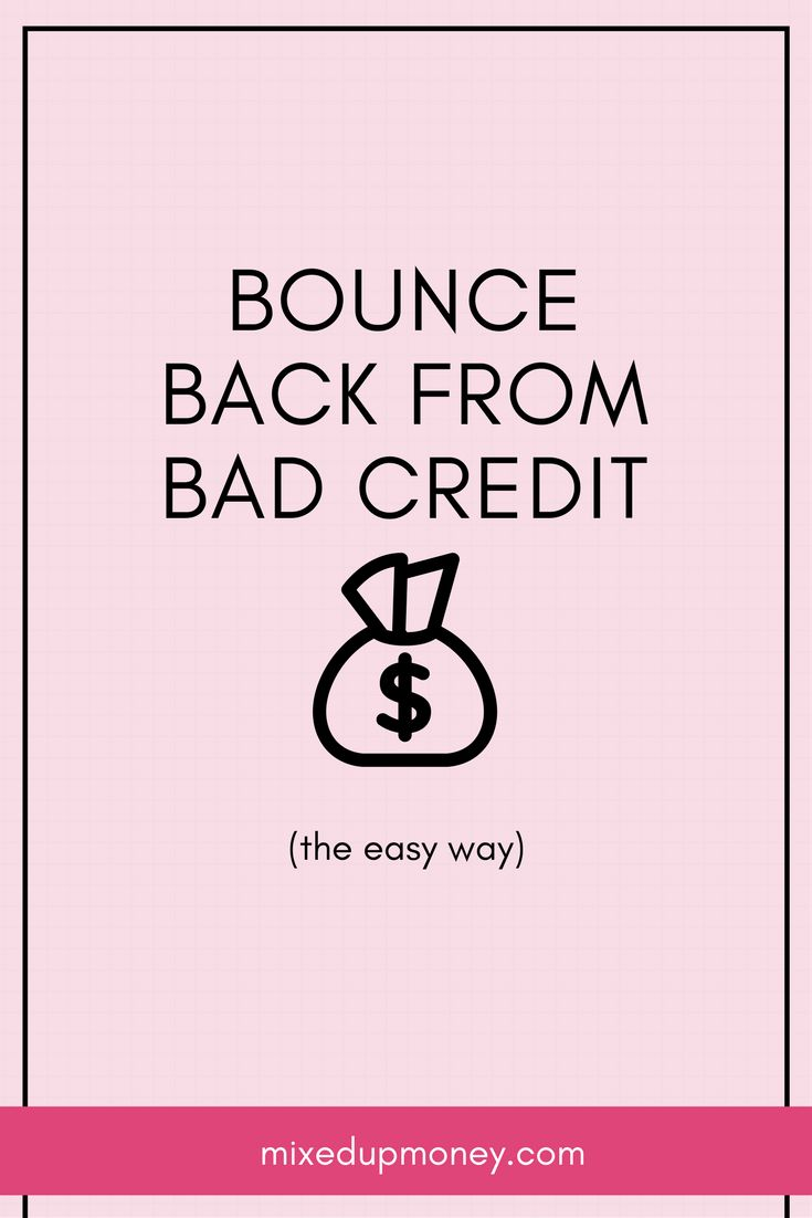 Understand your credit score, rebuild credit, bounce back, get approved