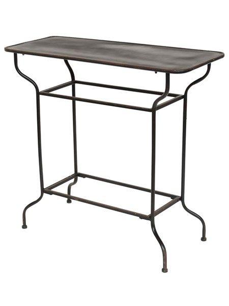 Metal bord med buet stel