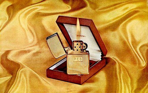 12K Solid Gold Zippo Lighter, 1965 ad