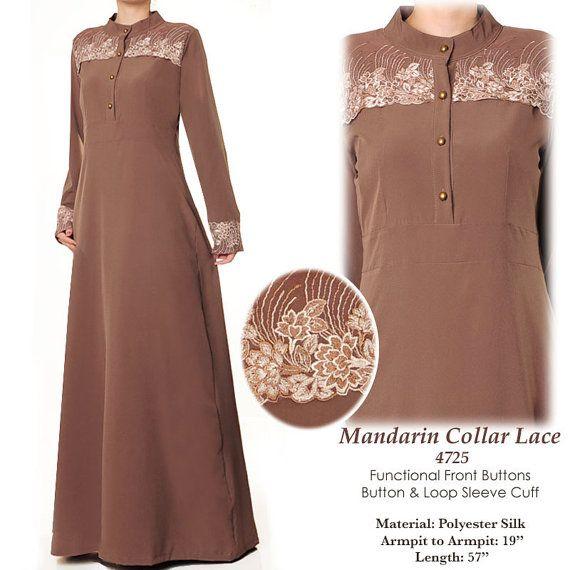 Shoulder Lace Front Closure Modest Summer Abaya Long by MissMode21