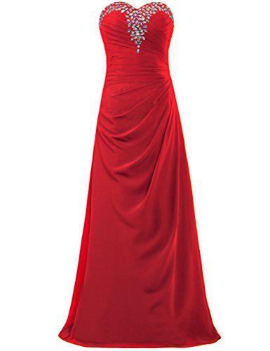 a8e0d7b675b Amazon.com  ANTS Women s Sweetheart Chiffon Evening Dresses Long Party Gown  Size 24W US Gold  Clothing