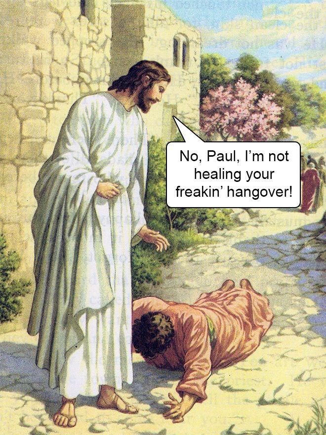 No Paul mime not healing your freaking hangover.