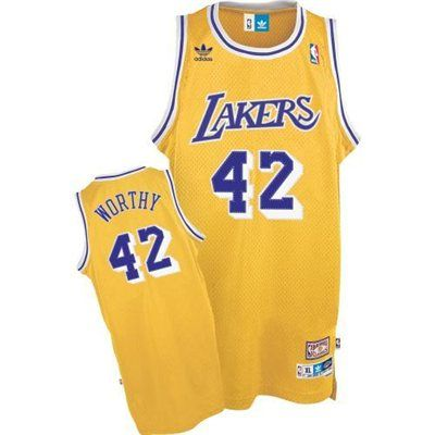 b639f238705 ... adidas Los Angeles Lakers 42 James Worthy Gold Hardwood Classics  Swingman Throwback Basketball Jersey Price ...