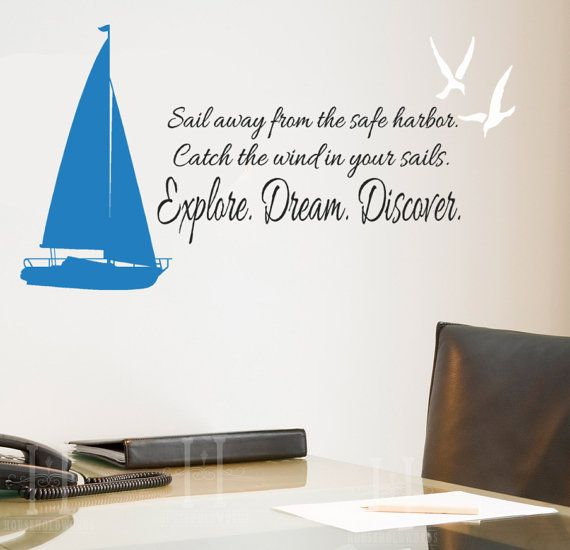 Sailboat decal Sail Away From the Safe Harbor by ...