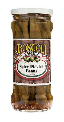 Boscoli Spicy Pickled Beans 12 oz. jar Made famous in New Orleans.http://www.store.cajuntvnetwork.com/products/details/287/boscoli-spicy-pickled-beans Cajun Kitchens Cajun Kitchens (@CajunKitchens) | Twitter