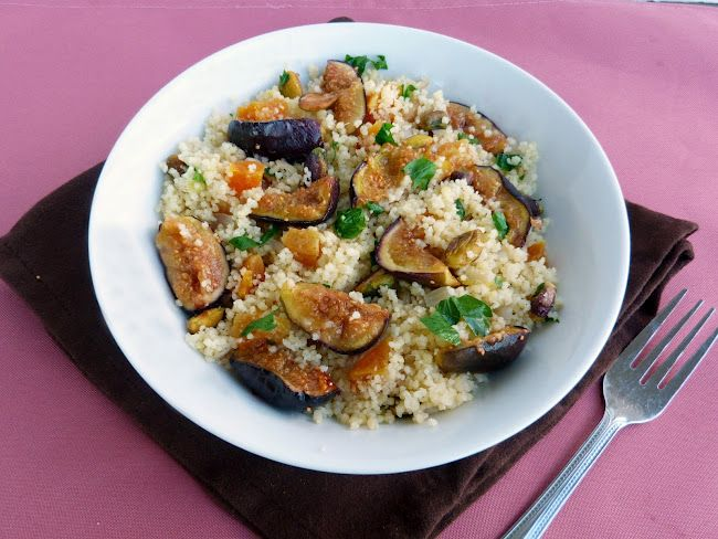 Couscous with Figs, Apricots & Pistachios (replace with quinoa)