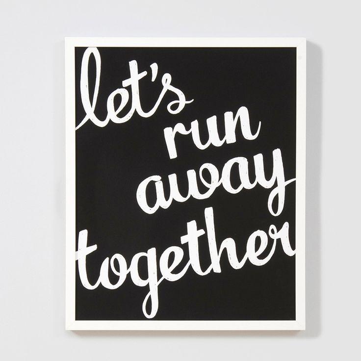 Let Run Away Print from The Shelley Panton Store