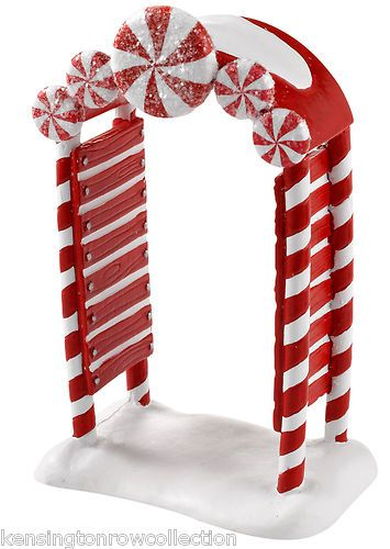 DEPT 56 VILLAGE ACCESSORIES -  PEPPERMINT ARCHWAY - NEW FOR 2012