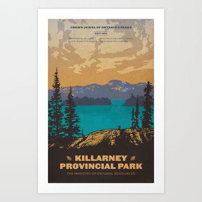 Killarney Park Poster Art Print by Cameron Stevens - $20.00