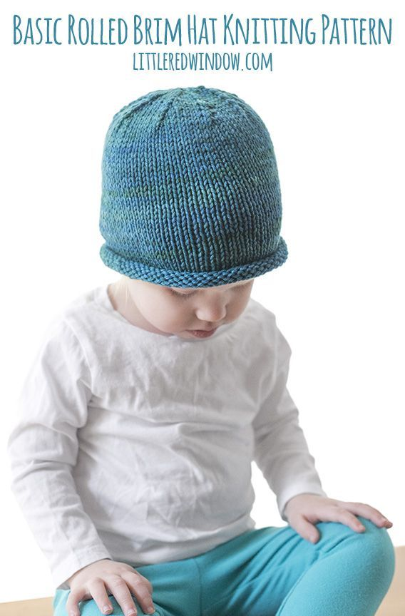 bd82e3d3e Basic Rolled Brim Baby Hat Knitting Pattern