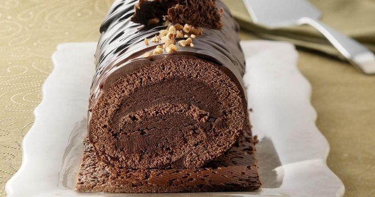 Recette - Bûche chocolatée croustillante | Notée 4.2/5