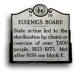 N.C. Higway Historical Marker Program Eugenics Board Marker