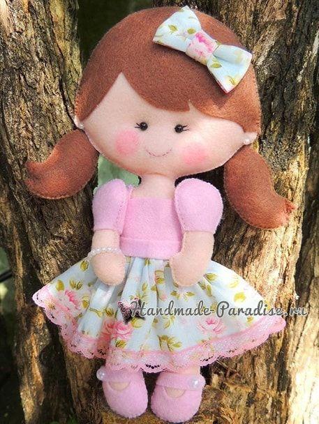 Самые красивые куколки из фетра. Шаблоны (3)