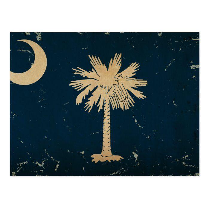 South Carolina State Flag Vintage Png Postcard Zazzle Com South Carolina State Flag State Flags Postcard